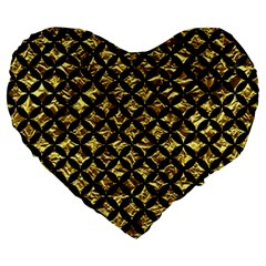 Circles3 Black Marble & Gold Foil (r) Large 19  Premium Heart Shape Cushions by trendistuff