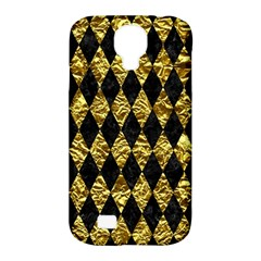 Diamond1 Black Marble & Gold Foil Samsung Galaxy S4 Classic Hardshell Case (pc+silicone) by trendistuff