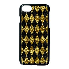 Diamond1 Black Marble & Gold Foil Apple Iphone 7 Seamless Case (black) by trendistuff