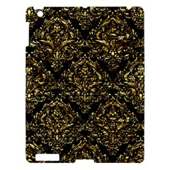 Damask1 Black Marble & Gold Foil Apple Ipad 3/4 Hardshell Case by trendistuff