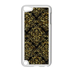 Damask1 Black Marble & Gold Foil Apple Ipod Touch 5 Case (white) by trendistuff