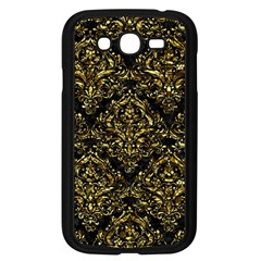 Damask1 Black Marble & Gold Foil Samsung Galaxy Grand Duos I9082 Case (black) by trendistuff