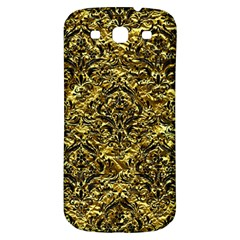 Damask1 Black Marble & Gold Foil (r) Samsung Galaxy S3 S Iii Classic Hardshell Back Case by trendistuff