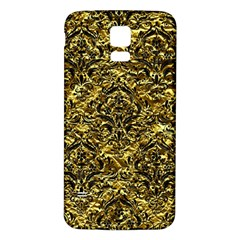 Damask1 Black Marble & Gold Foil (r) Samsung Galaxy S5 Back Case (white) by trendistuff