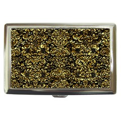 Damask2 Black Marble & Gold Foil Cigarette Money Cases by trendistuff