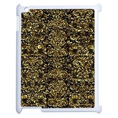 Damask2 Black Marble & Gold Foil Apple Ipad 2 Case (white) by trendistuff