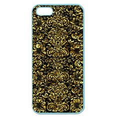 Damask2 Black Marble & Gold Foil Apple Seamless Iphone 5 Case (color) by trendistuff