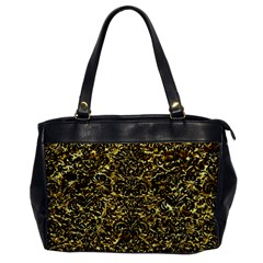 Damask2 Black Marble & Gold Foil (r) Office Handbags by trendistuff