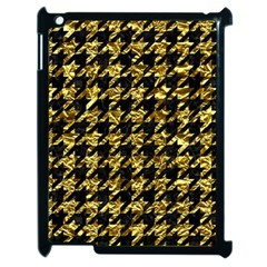 Houndstooth1 Black Marble & Gold Foil Apple Ipad 2 Case (black) by trendistuff