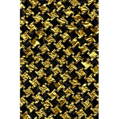 Houndstooth2 Black Marble & Gold Foil 5 5  X 8 5  Notebooks by trendistuff