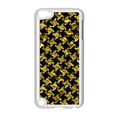 Houndstooth2 Black Marble & Gold Foil Apple Ipod Touch 5 Case (white) by trendistuff