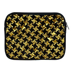 Houndstooth2 Black Marble & Gold Foil Apple Ipad 2/3/4 Zipper Cases by trendistuff