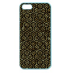 Hexagon1 Black Marble & Gold Foil Apple Seamless Iphone 5 Case (color) by trendistuff