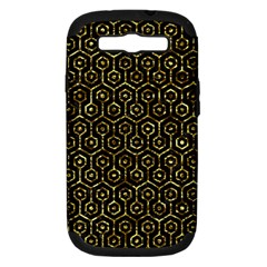 Hexagon1 Black Marble & Gold Foil Samsung Galaxy S Iii Hardshell Case (pc+silicone) by trendistuff