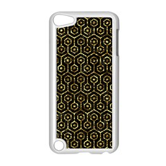 Hexagon1 Black Marble & Gold Foil Apple Ipod Touch 5 Case (white) by trendistuff