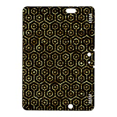 Hexagon1 Black Marble & Gold Foil Kindle Fire Hdx 8 9  Hardshell Case by trendistuff