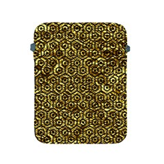 Hexagon1 Black Marble & Gold Foil (r) Apple Ipad 2/3/4 Protective Soft Cases by trendistuff