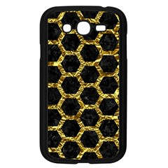 Hexagon2 Black Marble & Gold Foil Samsung Galaxy Grand Duos I9082 Case (black) by trendistuff