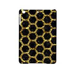 Hexagon2 Black Marble & Gold Foil Ipad Mini 2 Hardshell Cases by trendistuff