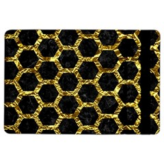 Hexagon2 Black Marble & Gold Foil Ipad Air 2 Flip by trendistuff