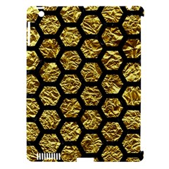 Hexagon2 Black Marble & Gold Foil (r) Apple Ipad 3/4 Hardshell Case (compatible With Smart Cover) by trendistuff