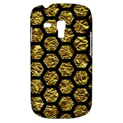 Hexagon2 Black Marble & Gold Foil (r) Galaxy S3 Mini by trendistuff