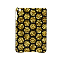Hexagon2 Black Marble & Gold Foil (r) Ipad Mini 2 Hardshell Cases by trendistuff