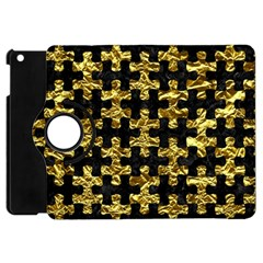 Puzzle1 Black Marble & Gold Foil Apple Ipad Mini Flip 360 Case by trendistuff