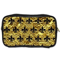 Royal1 Black Marble & Gold Foil Toiletries Bags by trendistuff
