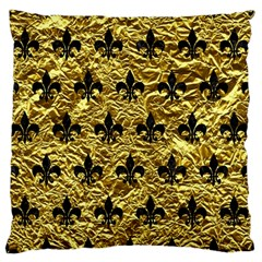 Royal1 Black Marble & Gold Foil Standard Flano Cushion Case (two Sides) by trendistuff