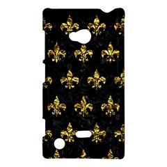 Royal1 Black Marble & Gold Foil (r) Nokia Lumia 720 by trendistuff
