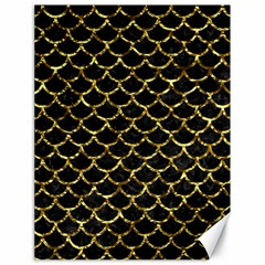 Scales1 Black Marble & Gold Foil Canvas 18  X 24   by trendistuff