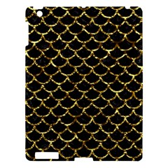 Scales1 Black Marble & Gold Foil Apple Ipad 3/4 Hardshell Case by trendistuff