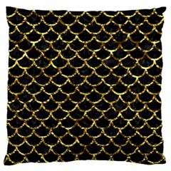Scales1 Black Marble & Gold Foil Large Cushion Case (two Sides) by trendistuff