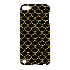 Scales1 Black Marble & Gold Foil Apple Ipod Touch 5 Hardshell Case by trendistuff