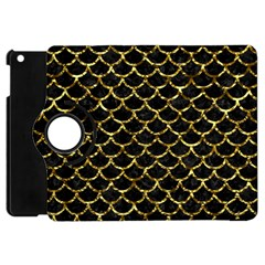 Scales1 Black Marble & Gold Foil Apple Ipad Mini Flip 360 Case by trendistuff