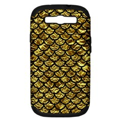 Scales1 Black Marble & Gold Foil (r) Samsung Galaxy S Iii Hardshell Case (pc+silicone) by trendistuff