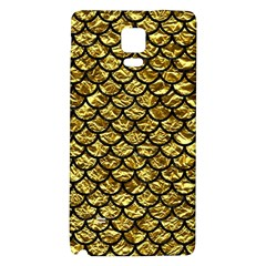 Scales1 Black Marble & Gold Foil (r) Galaxy Note 4 Back Case by trendistuff