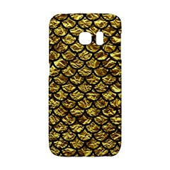 Scales1 Black Marble & Gold Foil (r) Galaxy S6 Edge by trendistuff