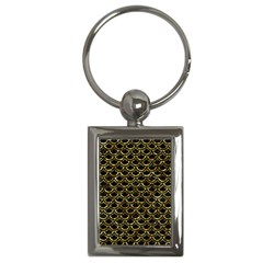 Scales2 Black Marble & Gold Foil Key Chains (rectangle)  by trendistuff