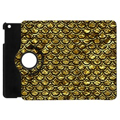 Scales2 Black Marble & Gold Foil (r) Apple Ipad Mini Flip 360 Case by trendistuff