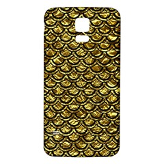 Scales2 Black Marble & Gold Foil (r) Samsung Galaxy S5 Back Case (white) by trendistuff