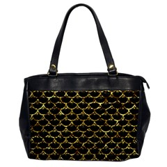 Scales3 Black Marble & Gold Foil Office Handbags by trendistuff