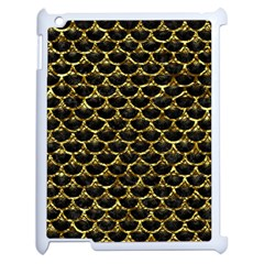 Scales3 Black Marble & Gold Foil Apple Ipad 2 Case (white) by trendistuff