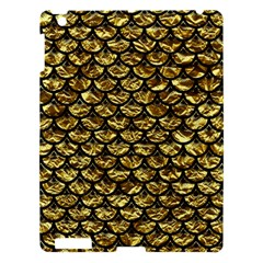 Scales3 Black Marble & Gold Foil (r) Apple Ipad 3/4 Hardshell Case by trendistuff