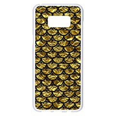 Scales3 Black Marble & Gold Foil (r) Samsung Galaxy S8 Plus White Seamless Case by trendistuff