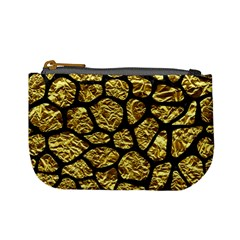 Skin1 Black Marble & Gold Foil Mini Coin Purses by trendistuff