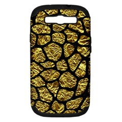 Skin1 Black Marble & Gold Foil Samsung Galaxy S Iii Hardshell Case (pc+silicone) by trendistuff