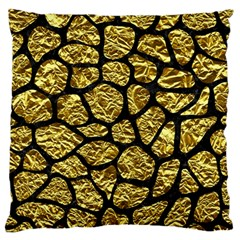 Skin1 Black Marble & Gold Foil Standard Flano Cushion Case (two Sides) by trendistuff