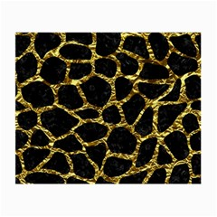 Skin1 Black Marble & Gold Foil (r) Small Glasses Cloth by trendistuff